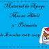 Material de Apoyo (Marzo-Abril) 3° Primaria Ciclo Escolar 2018-2019.