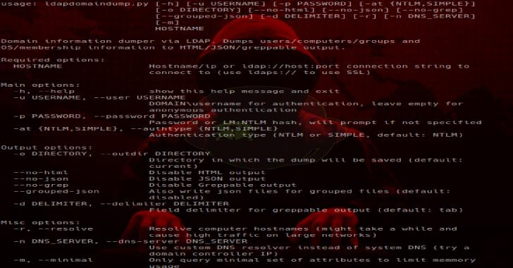 LdapDomainDump : Active Directory Information Dumper via LDAP