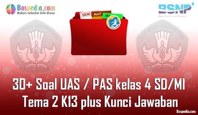 30+ Contoh Soal UAS / PAS untuk kelas 4 SD/MI Tema 2 K13 plus Kunci Jawaban