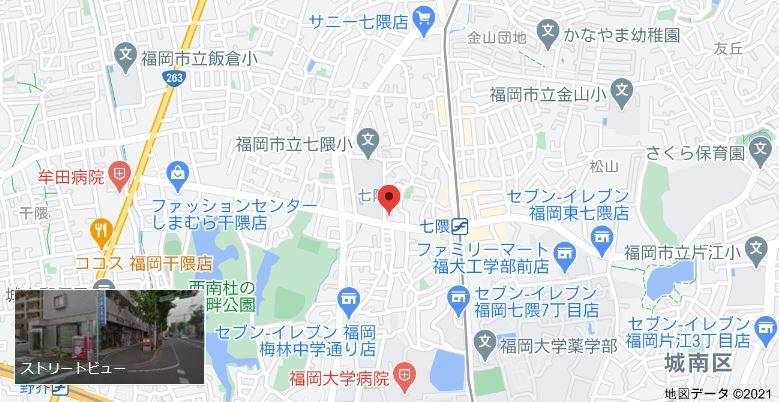 キュリオステーション福大通りまでの地図