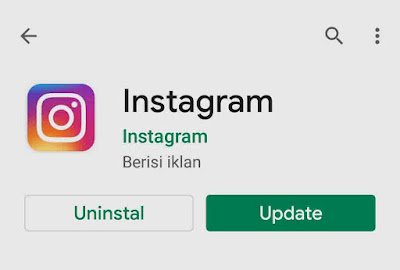 Cara mengatasi Instagram error di HP android
