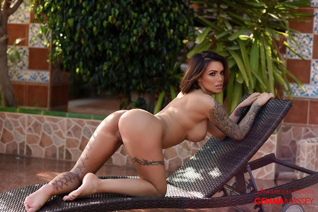 Gemma Massey hot sexy naked ass on bench