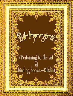 Bib-li-op-e-gis-tic, Pertaining to the art of binding books, Dibdin, Crafts-Hobbies, Book Binding, Book Printing, Hobbies