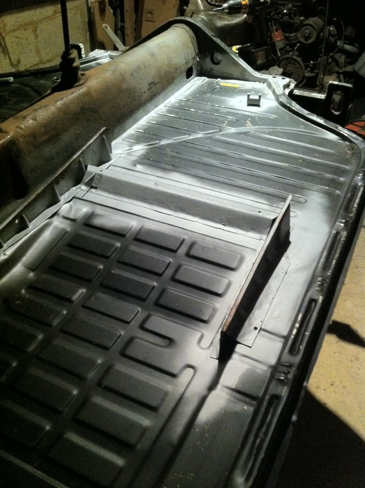 1969 Karmann Ghia Restoration Floor Pan Modifications