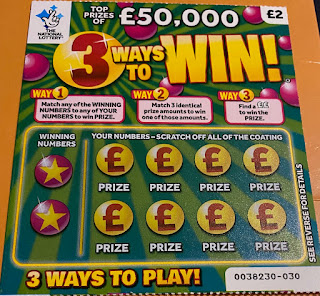 £2 3 Ways To Win Scratchcard
