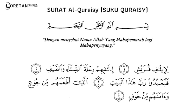 lafadz arab surah Al Quraisy