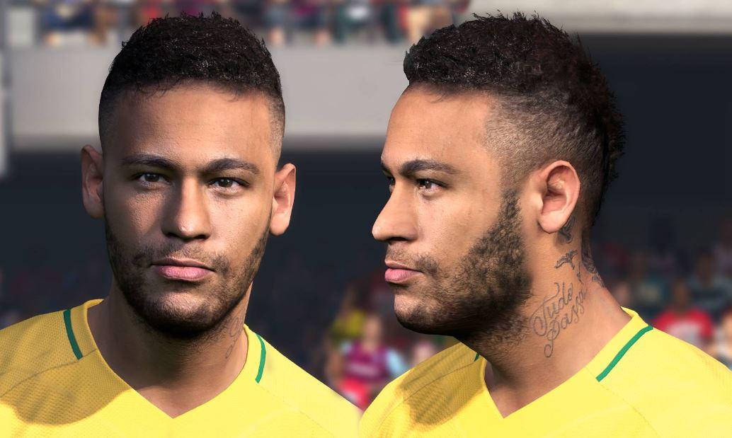 PES 2017 Neymar Jr New Face & Hair 2019 ~ Micano4u