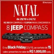 Promoção Park Shopping São Caetano Natal 2018 - 8 Jeep Compass