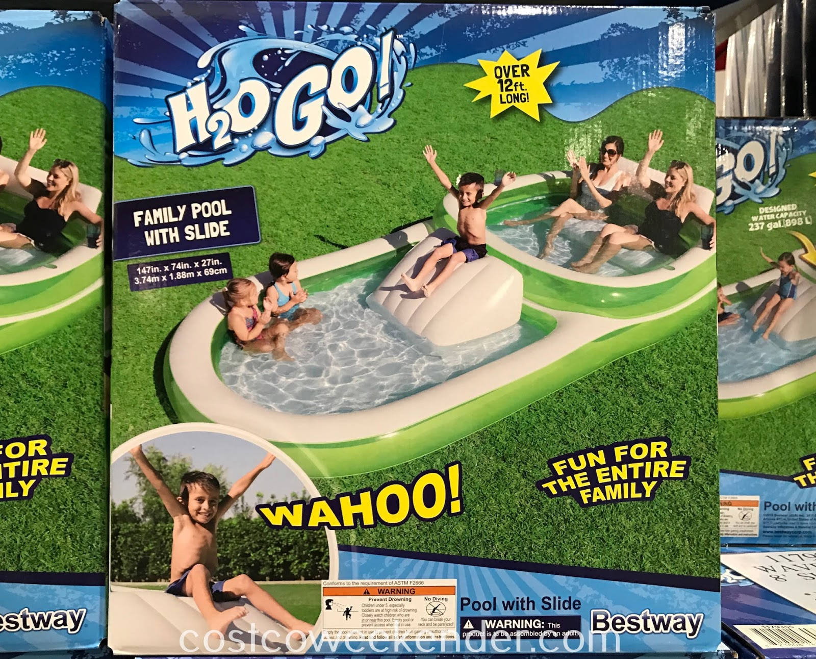 Have your kids cool off this summer with the Bestway Family Pool with Slide