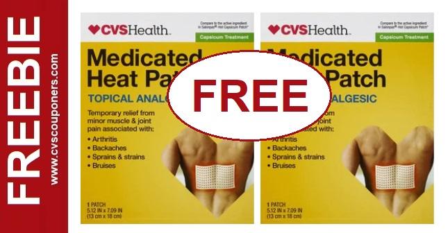 FREE CVS Health Medicated Heat Patch - 8/18-8/24
