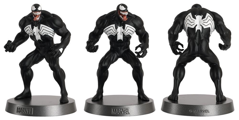 venon marvel comics heavyweights figurines, colección mavel comics pesos pesados, eaglemoss collections, hero collector, venon figurine