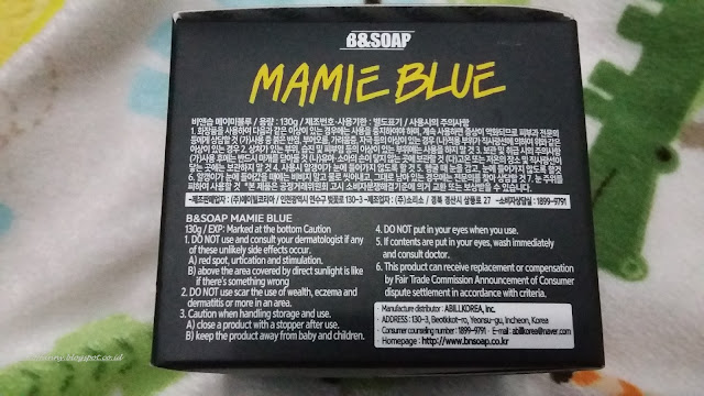 B&B Soap Mamie Blue Wash Off Mask Review