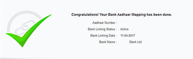 Verify Aadhaar to bank accounts linking status online