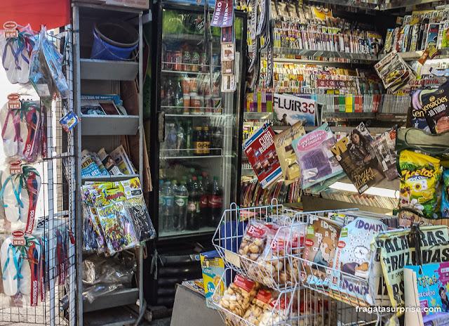 Banca de revistas em Copacabana, Rio de Janeiro