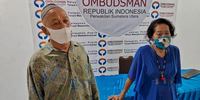 Mengadu Ke Ombudsman Sumut Sambil Menangis, Nenek Halimah: Tolonglah Pak Bobby Segera Bayar Uang Ganti Rugi