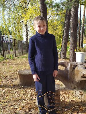 Свитер для мальчика связан на машине 3 класса