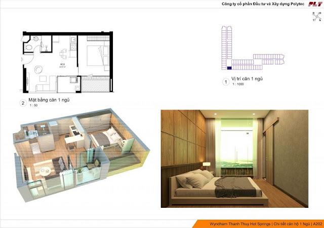 thiết kế căn hộ Condotel Wyndham Thanh Thủy