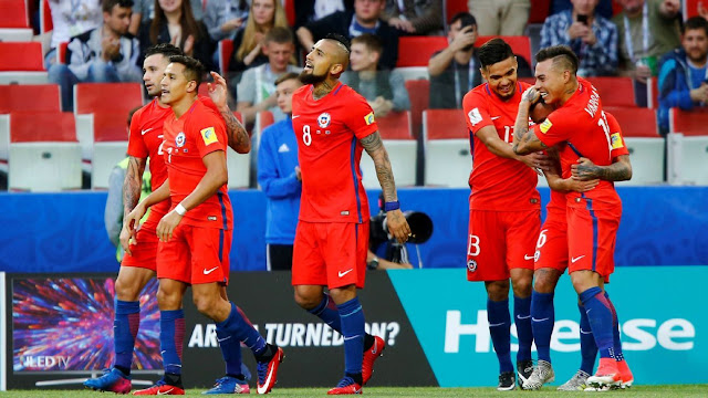 Chile at Piala Konfederasi 2017