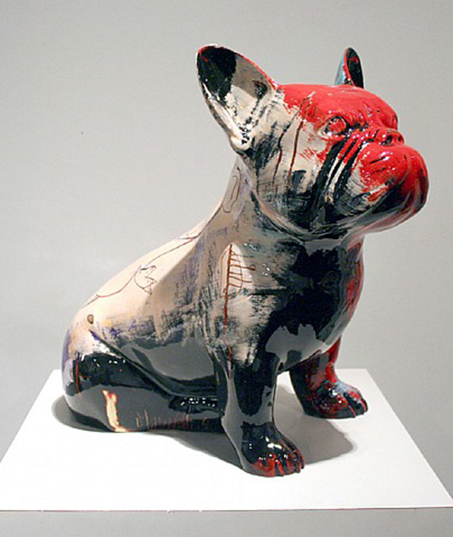 french bulldog sculptures by Julien Marinetti