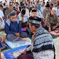 Shalat Idul Fitri Perdana di Mesjid Al Falah Gampong Simpang Tiga
