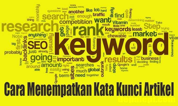 Cara menempatkan kata kunci (keyword) dalam artikel