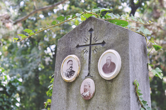 Nineteenth century portrait headstone