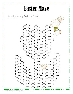 maze puzzle for easter