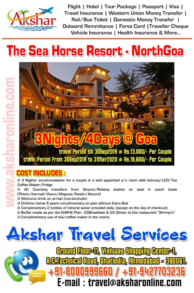Sea Horse Resort - Goa (3Nights/4Days)