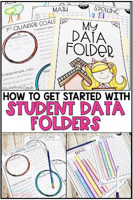 How to get student data folders started in your classroom today!