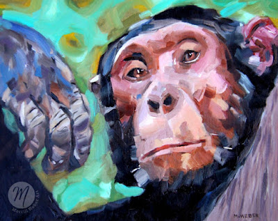 langston-chimpanzee-painting-merrill-weber
