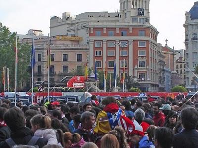Concentraciones y manifestación de los seguidores del Atlético de Madrid