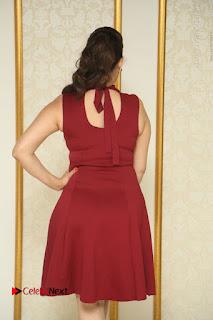 Telugu Tollywood Anchor Manjusha Pos in Red Short Dress  0031.JPG