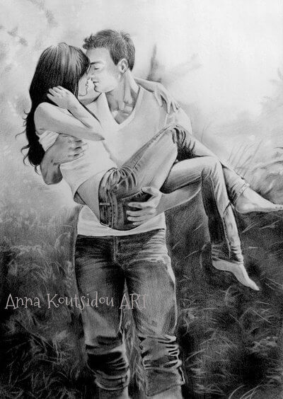 20 Mind-Blowing Pencil Drawings By Greek Artist That Illustrate The Beauty Of Love - You'll always be mine