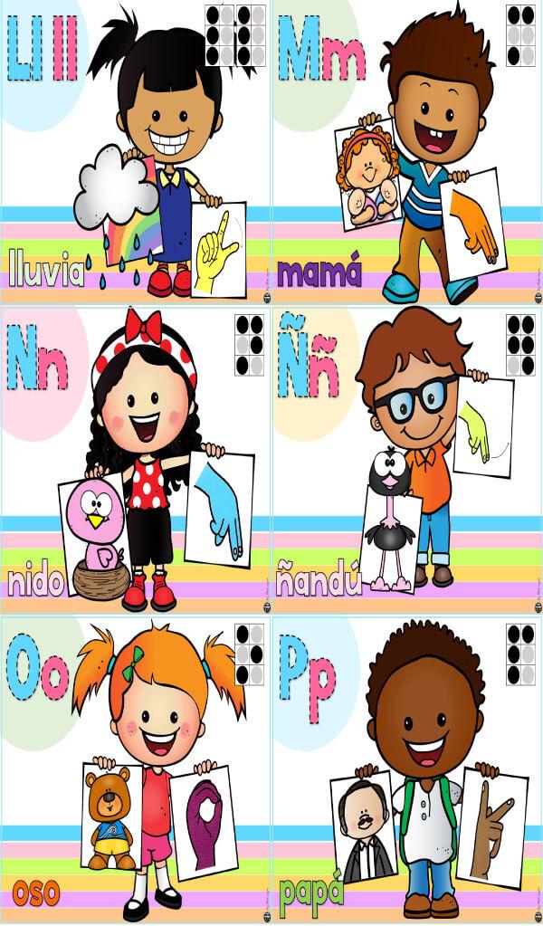 laminas-letras-abecedario-lengua-señas-mexicana