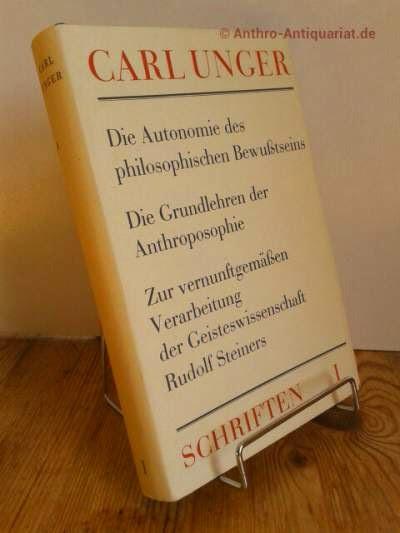Unger, Carl: Die Autonomie des philosophischen Bewusstseins