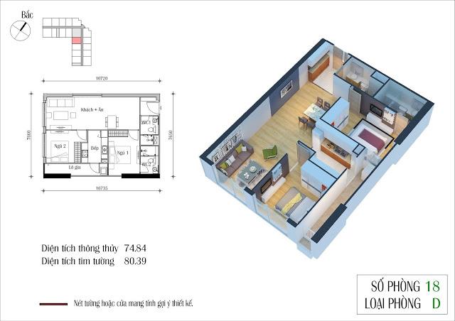 Thiết kế căn 18 tòa CT2 Eco Green City