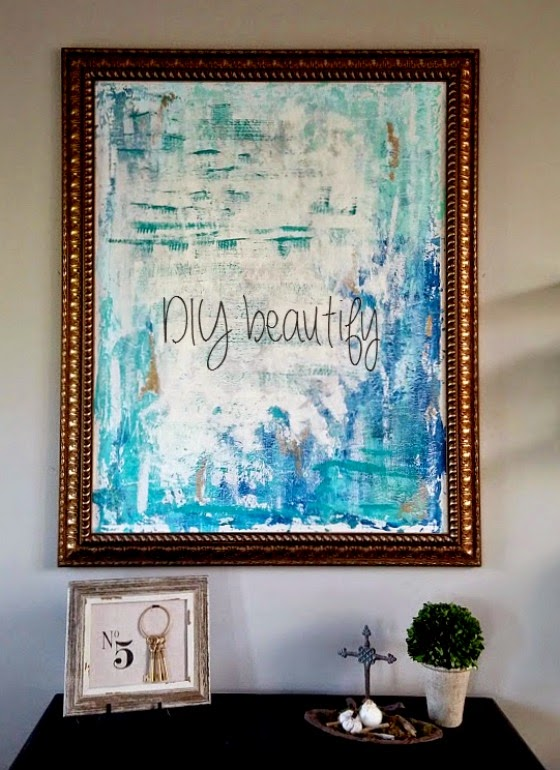 How to paint an abstract www.diybeautify.com
