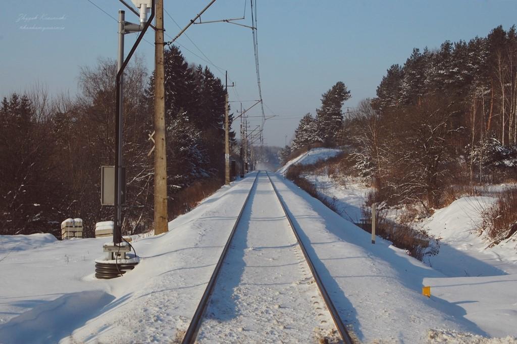 Przejazd kolejowy w Likusach