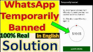 whatsapp gb temporarily banned solution