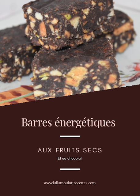 Barres énergétiques aux chocolat et fruits secs