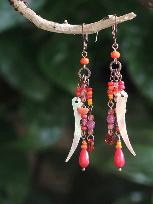free tutorial for  homemade earrings