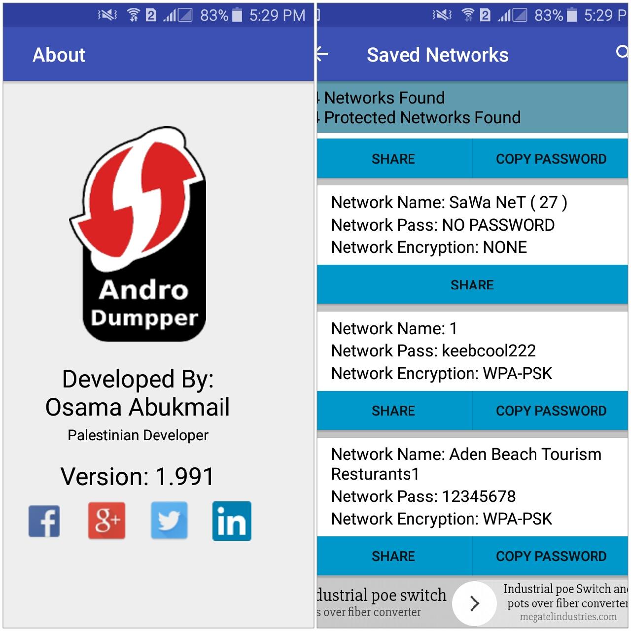 تطبيق اندرودمبر لاختراق شبكات الواي فاي طريقة الإستخدام Androdumpper Apk