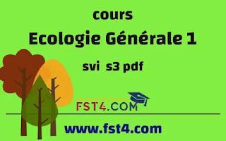 Ecologie Générale 1 svi s3