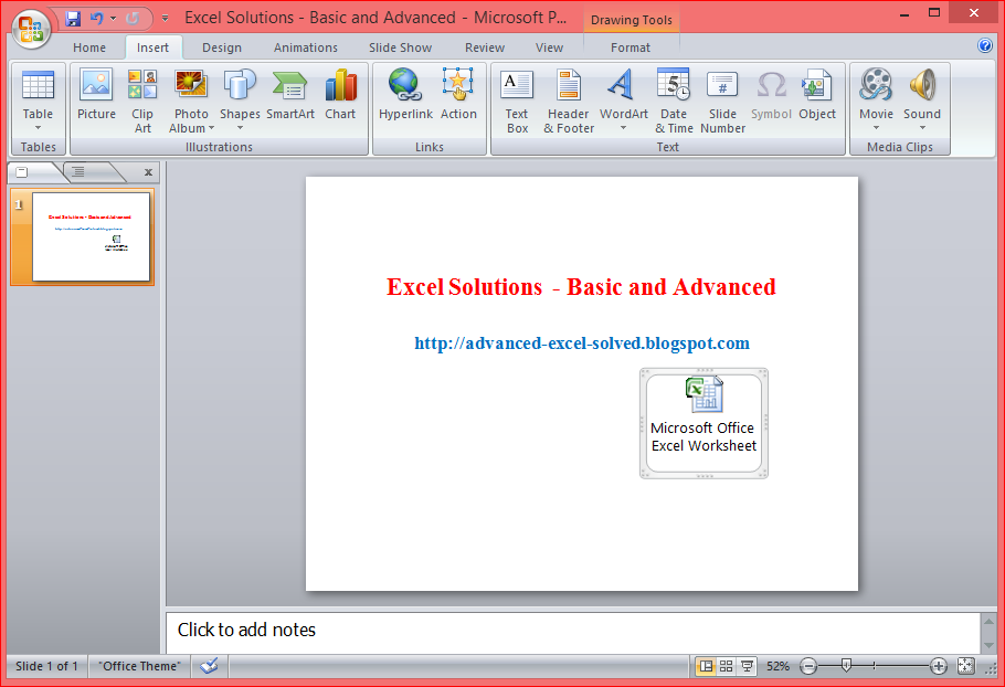 Insert or Embed Excel File In Word, Excel Or PowerPoint