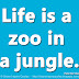 Life is a zoo in a jungle. ~Peter De Vries