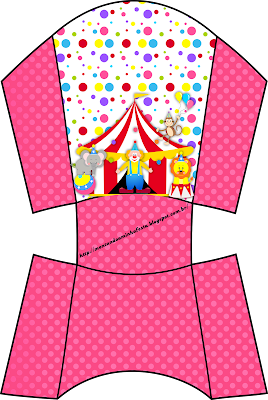 The Circus for Girls Free Printable Party Boxes.