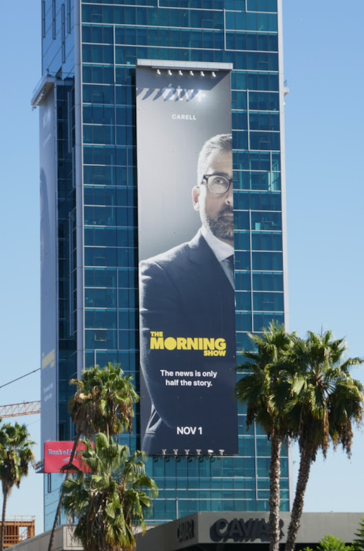 Steve Carell Morning Show Apple TV billboard