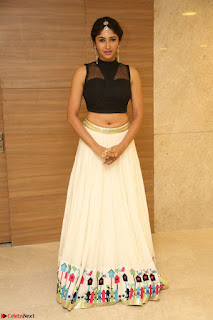 Roshni Prakash in a Sleeveless Crop Top and Long Cream Ethnic Skirt 095.JPG
