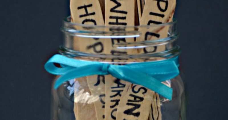 How to make an occupational therapy at home activity jar for kids