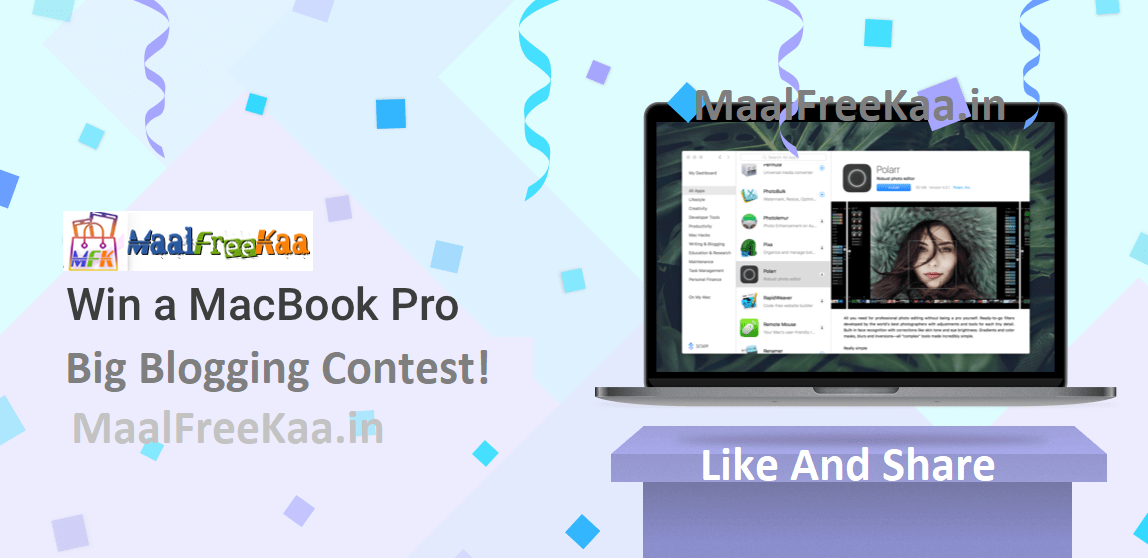 Big Blogging Contest Win MacBook Pro - Freebie Giveaway